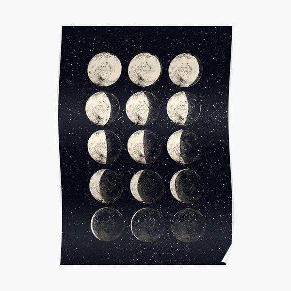 Cycle de la lune Poster