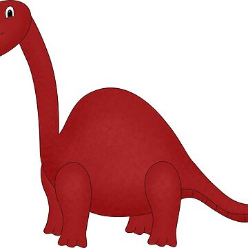 Red Cartoon Dinosaur Sticker by Whimsydesigns