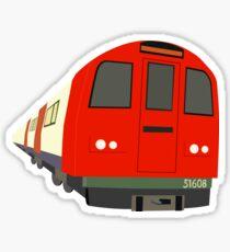 London tube train design Sticker