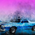 1979 Ranchero Watercolour of the Last Sport Pickup Truck by ChasSinklier
