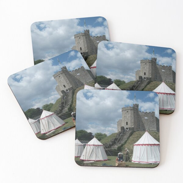 Cardiff Castle Encampment Coasters (Set of 4)