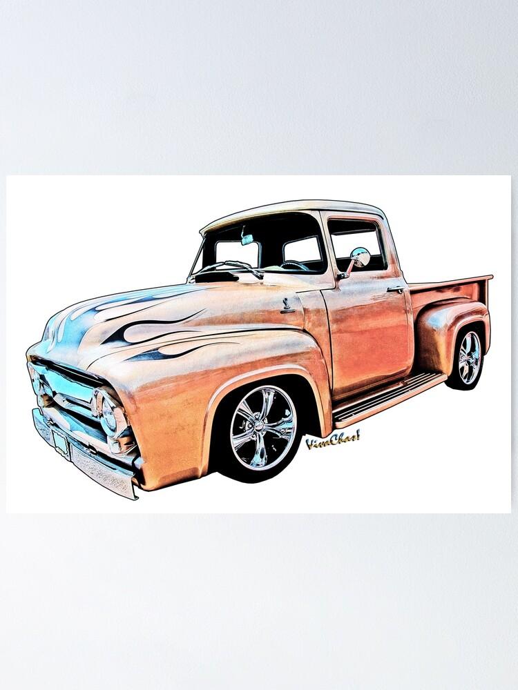 Ford F-100 Classic American Pickup Truck T Shirt Mans Gift Idea Mechanic Hot Rod