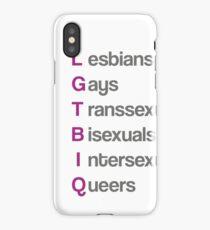 LGTBIQ, lesbians, gays, transsexuals, bisexuals, intersexuals, queers Vinilo y funda para iPhone