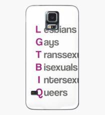 LGTBIQ, lesbians, gays, transsexuals, bisexuals, intersexuals, queers Funda/vinilo para Samsung Galaxy