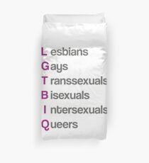 LGTBIQ, lesbians, gays, transsexuals, bisexuals, intersexuals, queers Funda nórdica