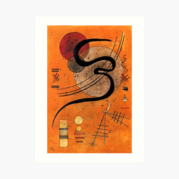 Kandinsky - Mood Line, pintura abstracta colorida Lámina artística