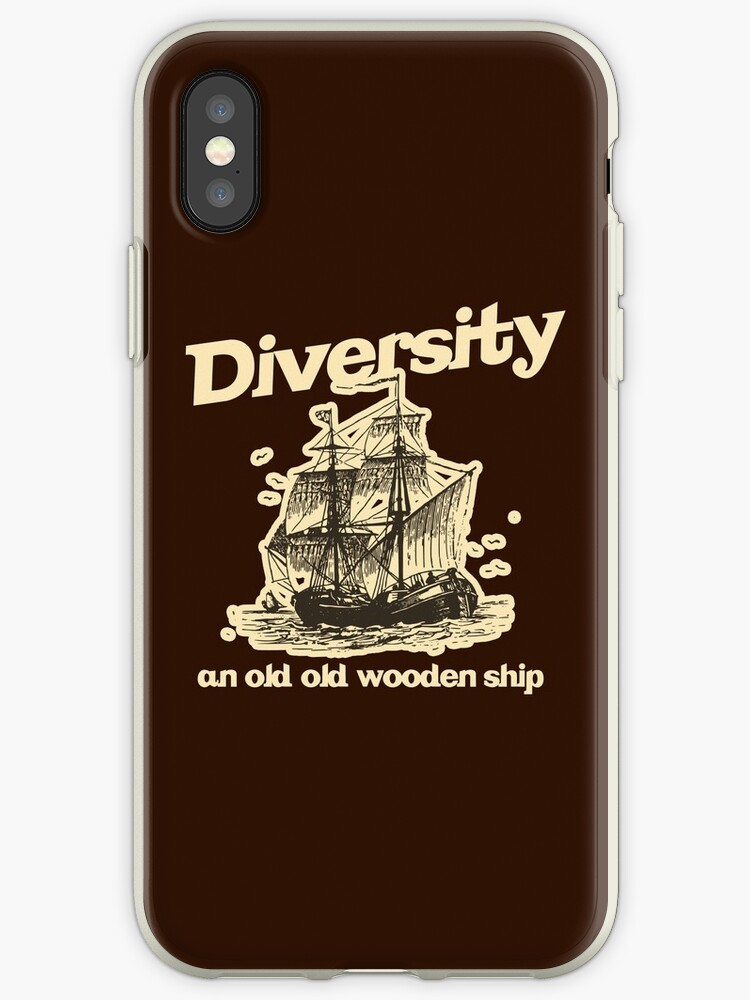 Diversity An Old Old Wooden Ship Iphone Case By Mcpod