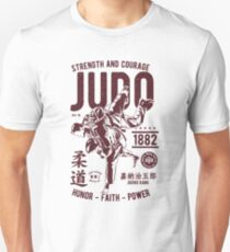 STRENGHT AND COURAGE JUDO 1882 HONOR -FAITH - POWER  T-SHIRT  Unisex T-Shirt