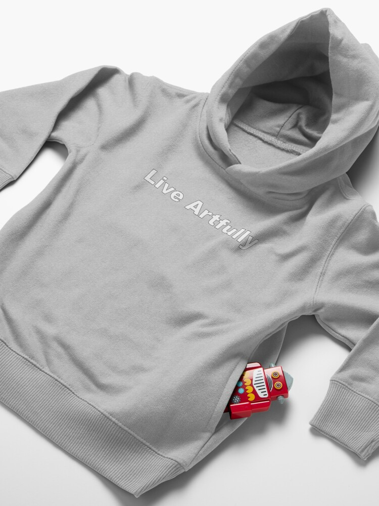 Alternate view of Live Artfully Toddler Pullover Hoodie