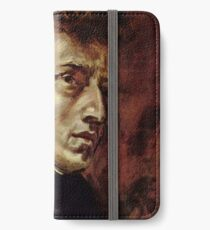 The Portrait of Frédéric Chopin by French artist Eugène Delacroix (1838) iPhone Wallet/Case/Skin