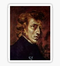 The Portrait of Frédéric Chopin by French artist Eugène Delacroix (1838) Sticker