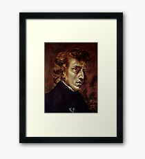 The Portrait of Frédéric Chopin by French artist Eugène Delacroix (1838) Framed Print