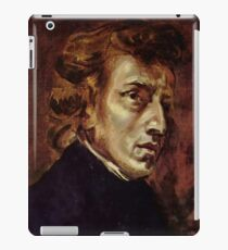 The Portrait of Frédéric Chopin by French artist Eugène Delacroix (1838) iPad Case/Skin
