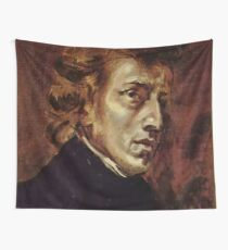The Portrait of Frédéric Chopin by French artist Eugène Delacroix (1838) Wall Tapestry