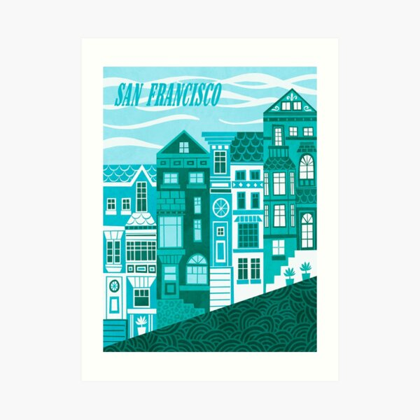 San Francisco (Cool Blues) Art Print