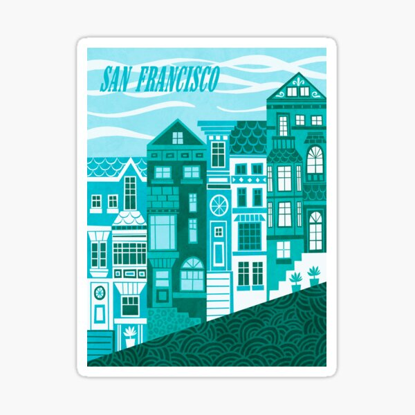 San Francisco (Cool Blues) Sticker