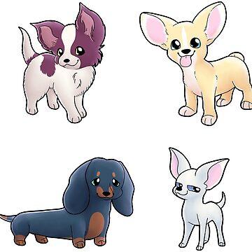 Puppy Stickers! by Amberlea-draws