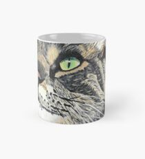 Taza clásica Cat Painting- Art- Painting- Detailed