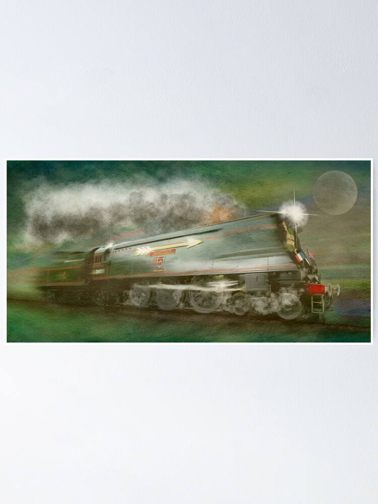 Alternate view of The Golden Arrow Historic Steam Train by MotorManiac Poster