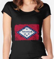 Arkansas Vintage Flag Women's Fitted Scoop T-Shirt