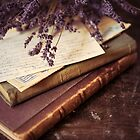 Still life with old books and lavenda by JBlaminsky