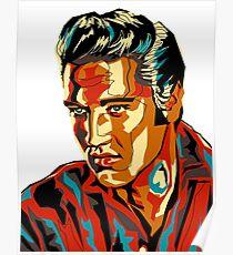 Retro-Form Elvis Presley Design Poster