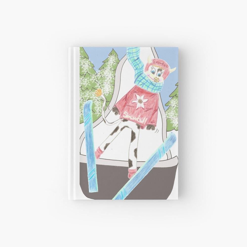 Snowbell ski jumping Hardcover Journal