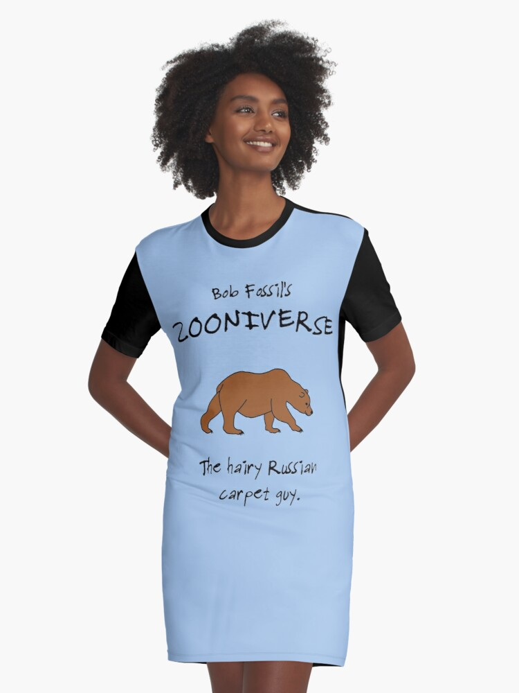 The Bear, at Bob Fossil's Zooniverse Graphic T-Shirt Dress Front