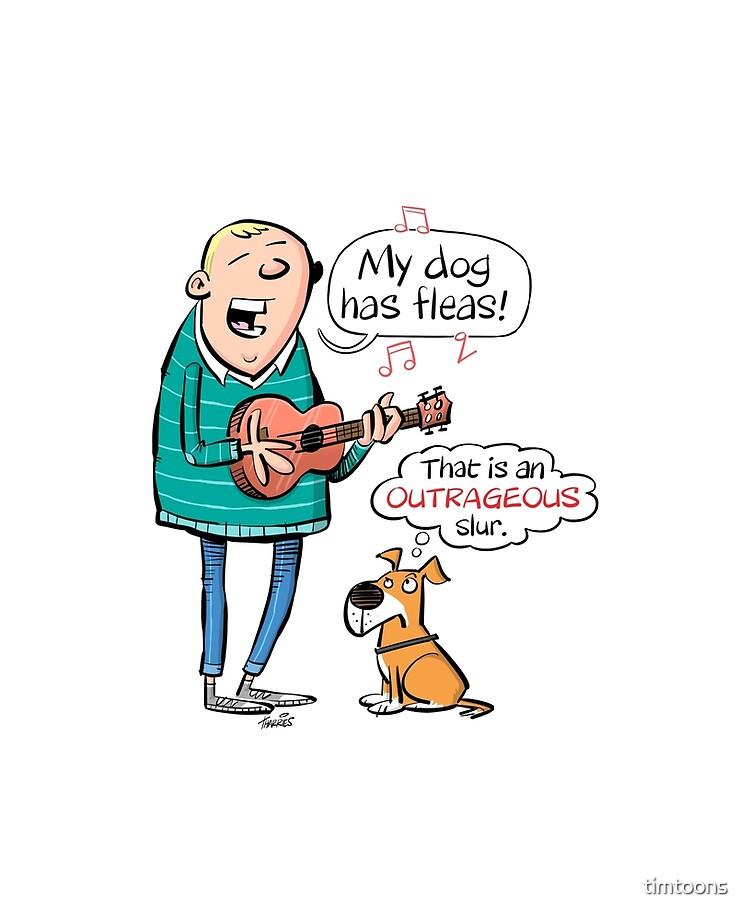 My Dog Has Fleas Ukulele Cartoon Ipad Case Skin By Timtoons Redbubble
