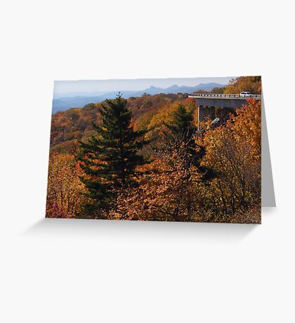 View from Blue Ridge Parkway near Linn Cove Viaduct Greeting Card