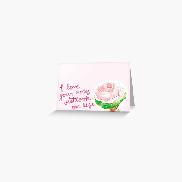 My Sweet, Punny Valentine: Rose Ice Cream Greeting Card