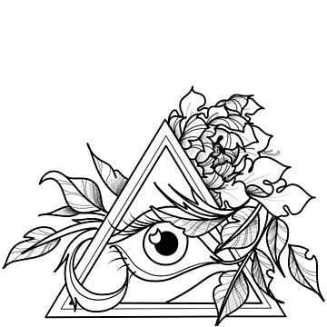 Floral all seeing eye by cophine324b21