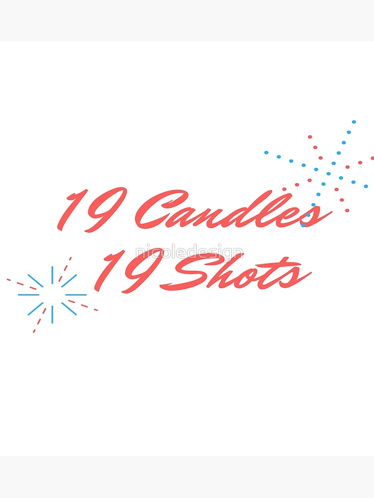 19 Candles Shots 19th Birthday Gift For Girlfriend By Nicoledesign