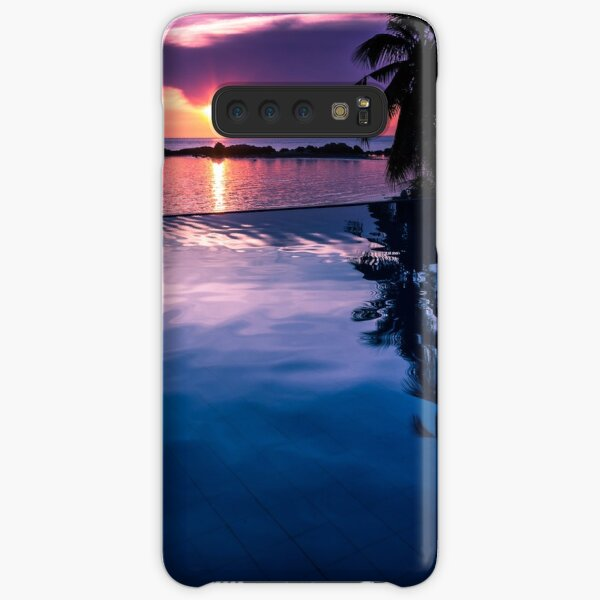 Tropical sunset pool Samsung Galaxy Snap Case