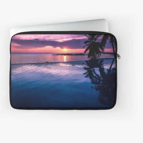 Tropical sunset pool Laptop Sleeve