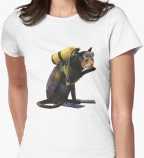 Scuba Cat Women's Fitted T-Shirt