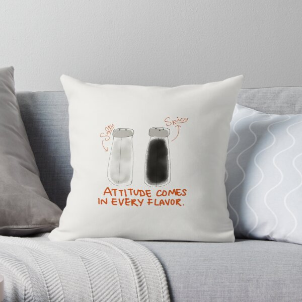"""Attitude Comes in Every Flavor"" Throw Pillow"