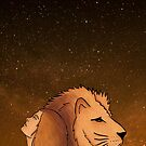 The Lady and The Lion Under The Night Sky by ImportAutumn