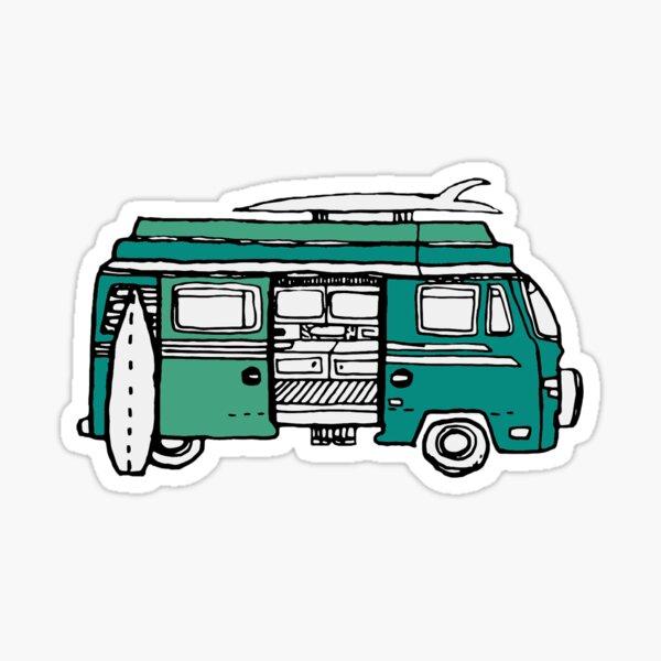 Volkswagon Hippie Van Wanderlust Sticker