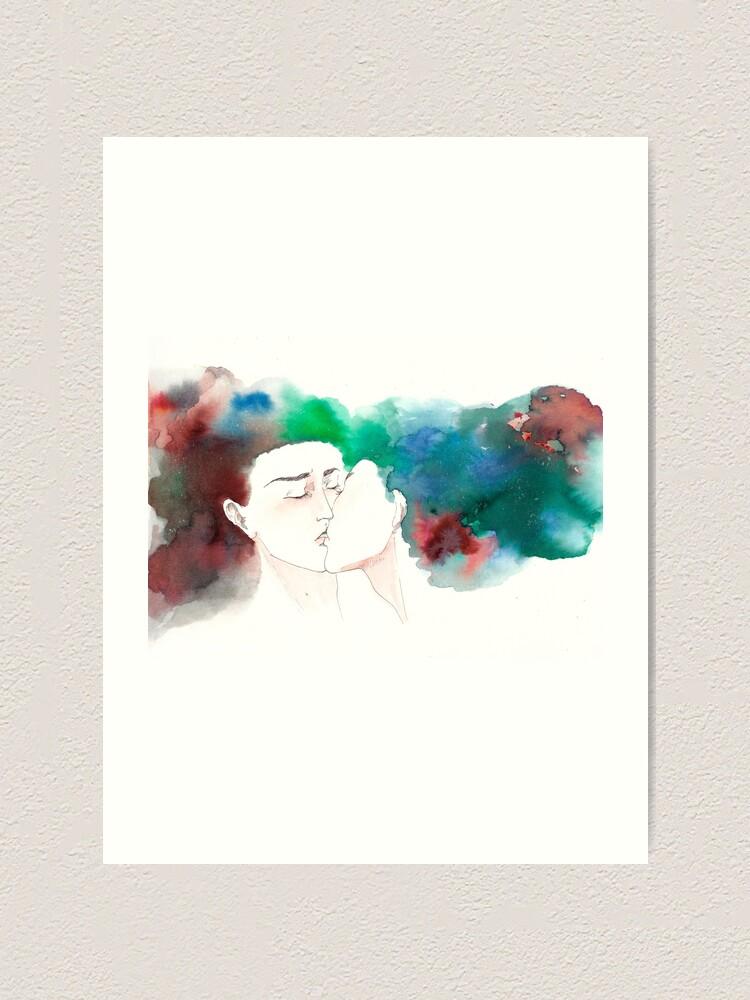 Alternate view of Kiss Art Print