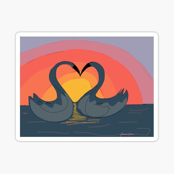 """""""Love Birds"""" Sticker"""