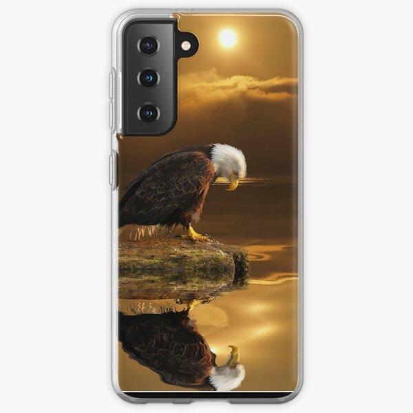 """Gratitude"" Bald Eagle Samsung Galaxy Soft Case"
