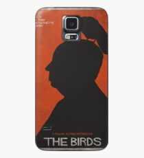 The Birds, alternative poster, printable, Alfred Hitchcock, Rod Taylor, Tippi Hedren, movie poster, retro poster, Saul Bass style Funda/vinilo para Samsung Galaxy