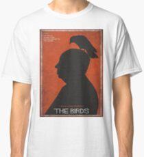 The Birds, alternative poster, printable, Alfred Hitchcock, Rod Taylor, Tippi Hedren, movie poster, retro poster, Saul Bass style Camiseta clásica