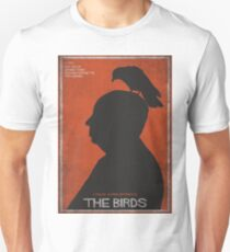 The Birds, alternative poster, printable, Alfred Hitchcock, Rod Taylor, Tippi Hedren, movie poster, retro poster, Saul Bass style Camiseta unisex