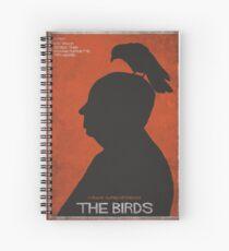 The Birds, alternative poster, printable, Alfred Hitchcock, Rod Taylor, Tippi Hedren, movie poster, retro poster, Saul Bass style Cuaderno de espiral
