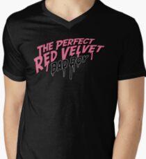 The Perfect Red Velvet Bad Boy Typography Men's V-Neck T-Shirt
