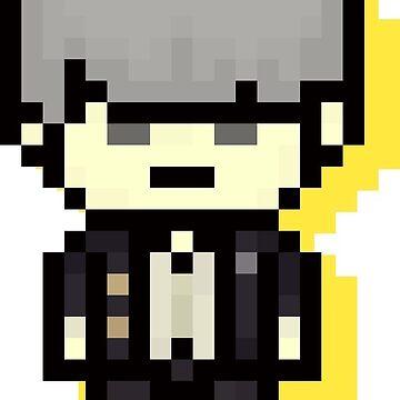 Yu Narukami (Protag) - Pixel Art by TatsuyoDragneel