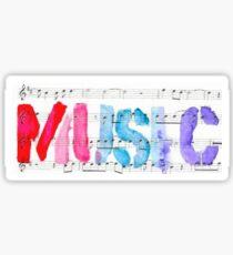 purple MUSIC Sticker