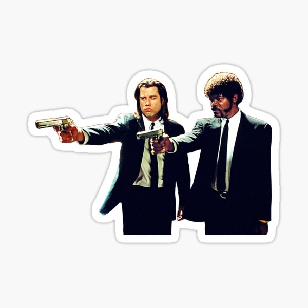 Vincent et Jules Pulp Fiction Sticker